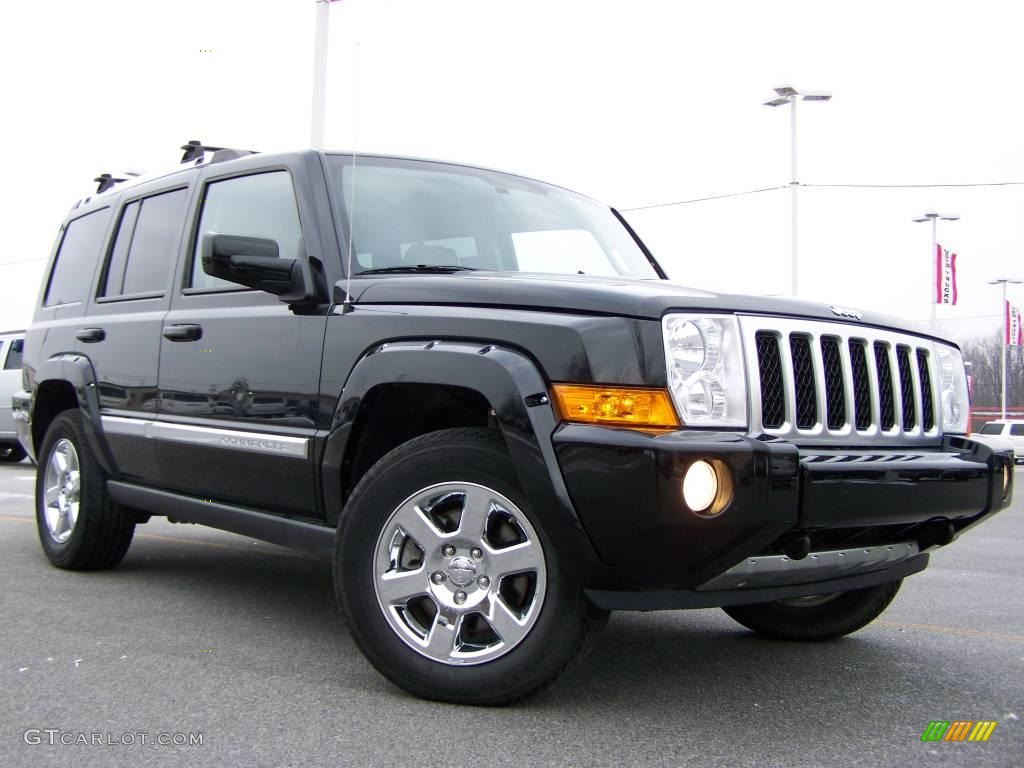 2007 Black Clearcoat Jeep Commander Overland 4x4 25537635 Car Color Galleries