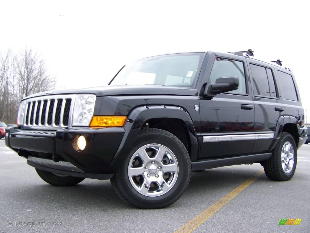 2007 Black Clearcoat Jeep Commander Overland 4x4 25537635 Photo 5 Car Color