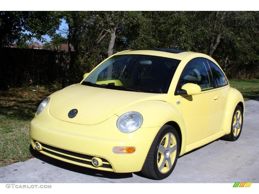 2001 yellow volkswagen new beetle sport edition coupe 25537838 car color galleries. Black Bedroom Furniture Sets. Home Design Ideas