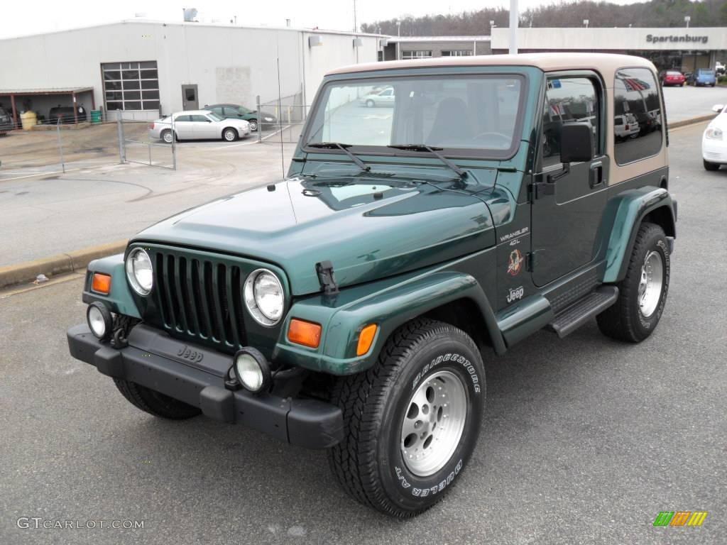 1999 Forest Green Pearlcoat Jeep Wrangler Sahara 4x4 #25581318 ...