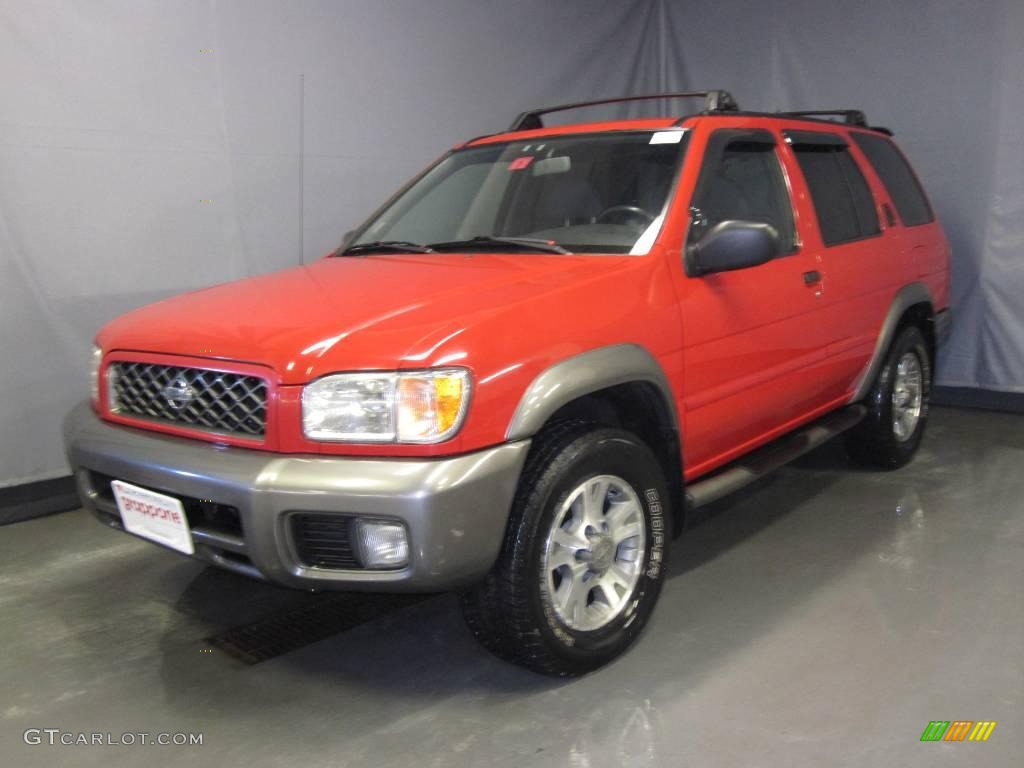 2001 crimson blaze red nissan pathfinder se 4x4 25581075. Black Bedroom Furniture Sets. Home Design Ideas