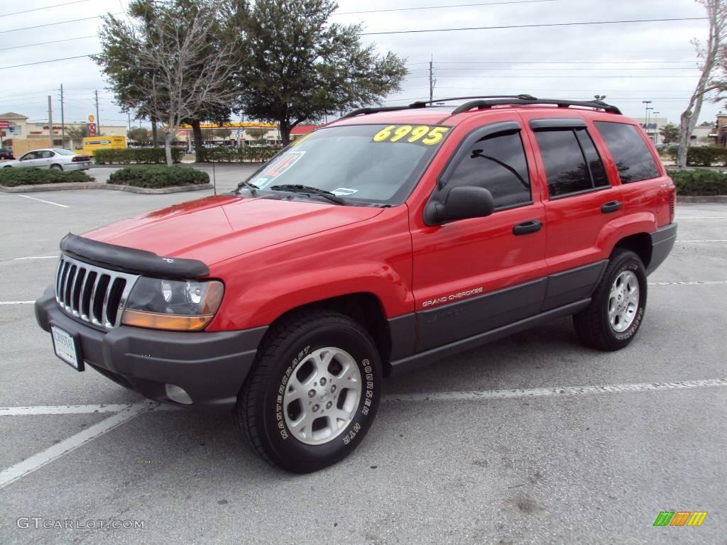 2001 flame red jeep grand cherokee laredo 4x4 25632239. Black Bedroom Furniture Sets. Home Design Ideas