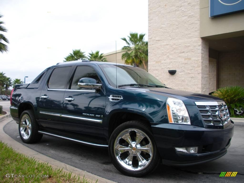 2007 escalade ext awd blue chip cocoa light cashmere photo 4