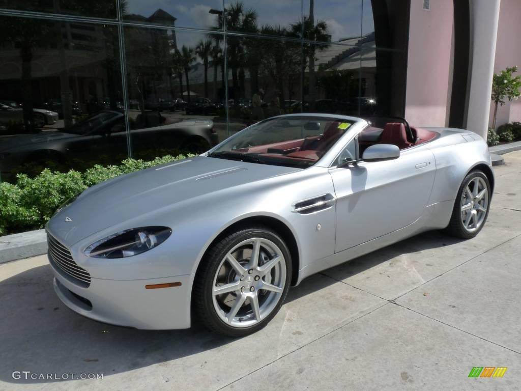 2008 Titanium Silver Aston Martin V8 Vantage Roadster 25631834 Gtcarlot Com Car Color Galleries