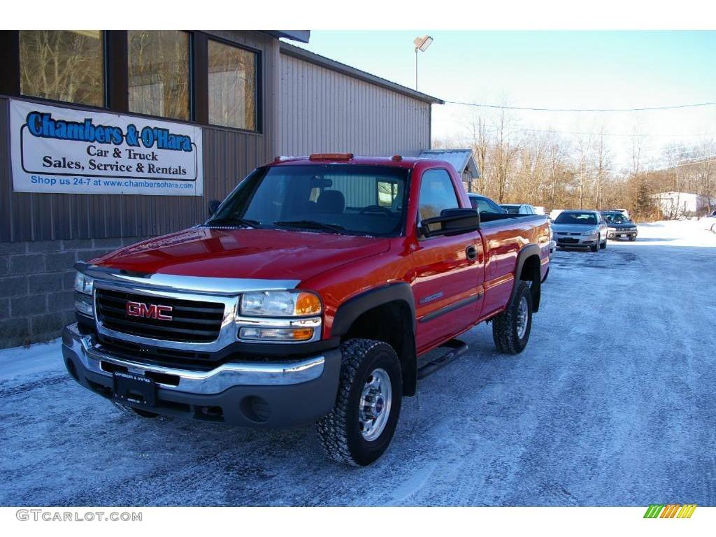 Fire red gmc sierra 2500hd