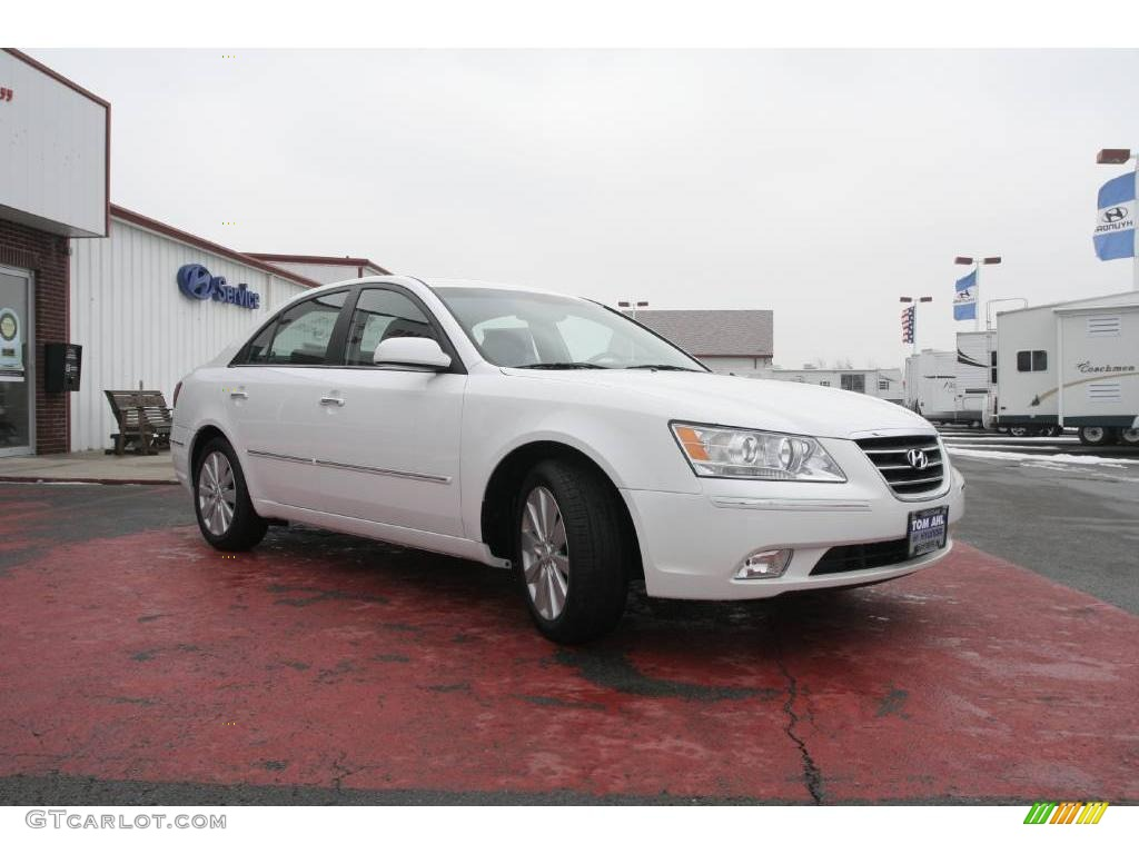 2010 pearl white hyundai sonata limited v6 25698309 photo
