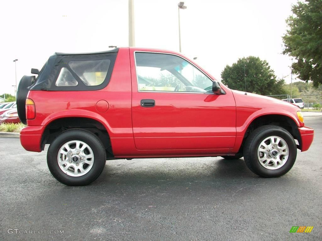 2002 sportage classic red gray photo 6