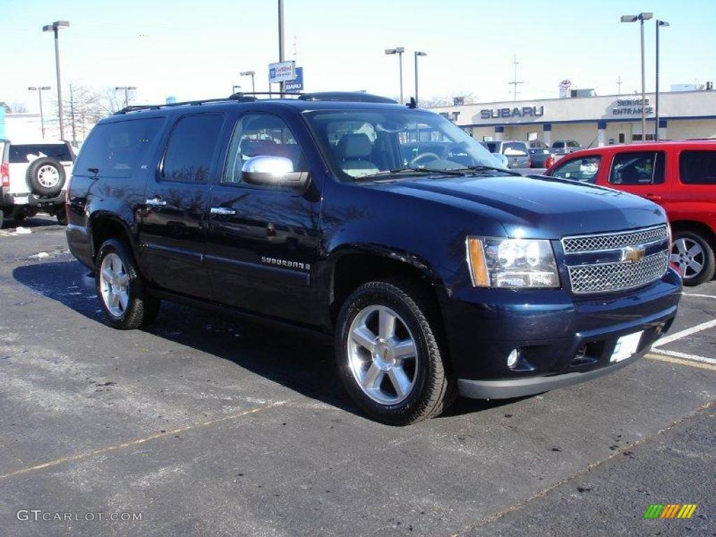 2007 dark blue metallic chevrolet suburban 1500 ltz 4x4. Black Bedroom Furniture Sets. Home Design Ideas