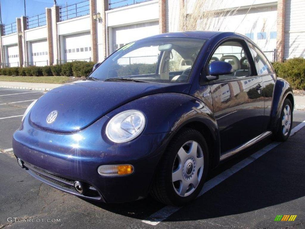 1999 new beetle gls coupe batik blue metallic cream photo 1