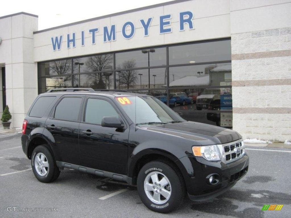 2009 Escape XLT V6 4WD - Black Pearl Slate Metallic / Charcoal photo #1