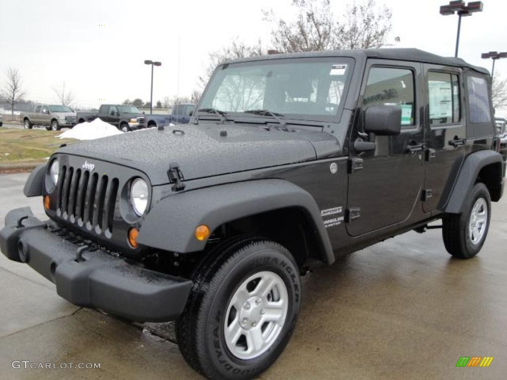 2010 Dark Charcoal Pearl Jeep Wrangler Unlimited Sport 4x4
