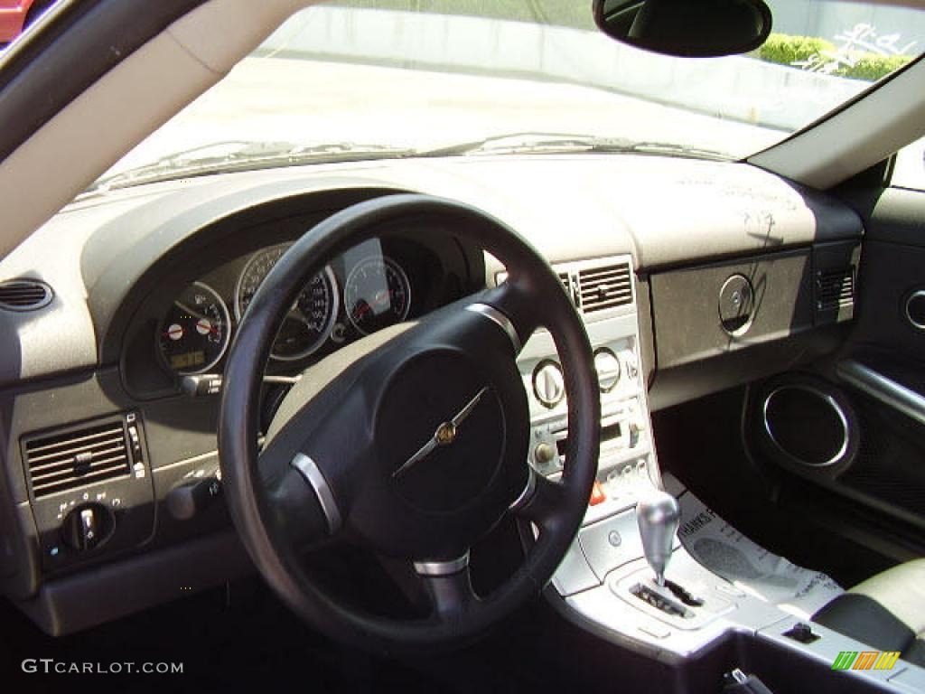 2004 alabaster white chrysler crossfire limited coupe - 2004 chrysler crossfire interior ...