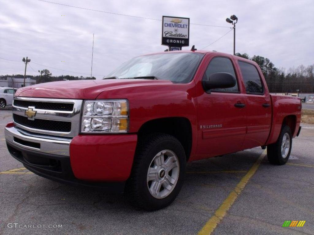 2009 Silverado 1500 LT Crew Cab - Victory Red / Ebony photo #1