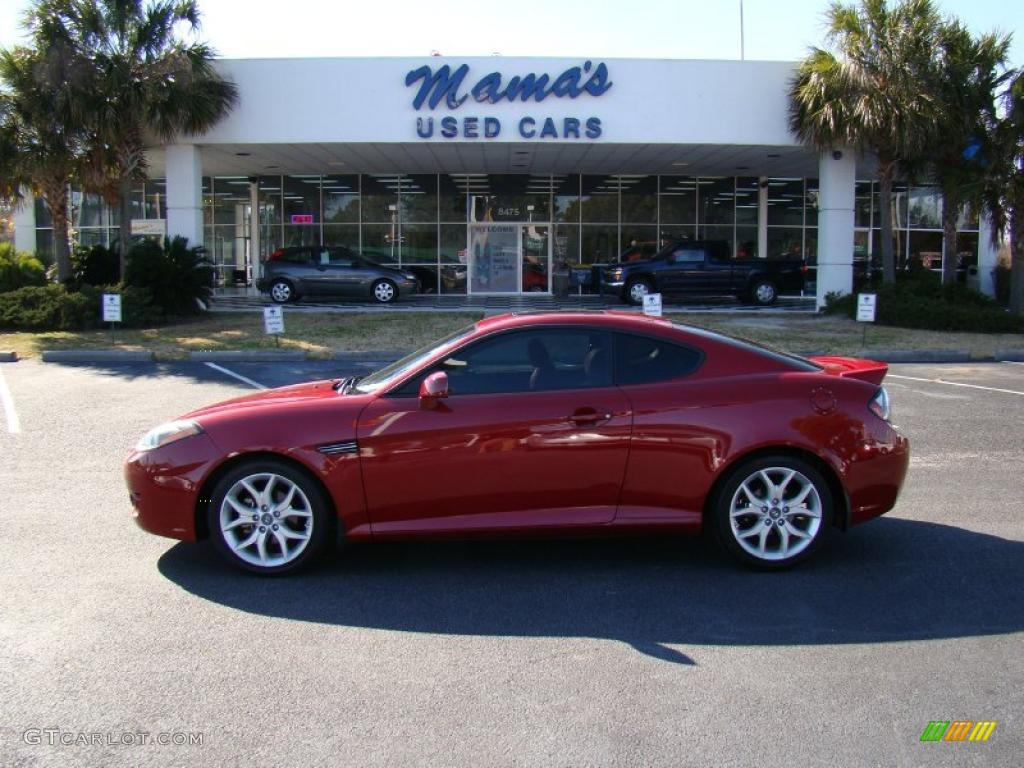 2007 Tiburon GT Limited   Redfire Pearl / Black/Red Photo #1