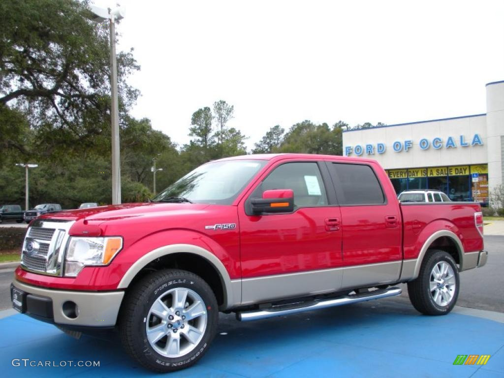 Red candy metallic ford f150 ford f150 lariat supercrew