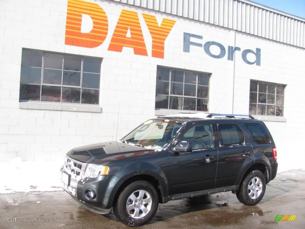 2009 Escape Limited V6 4WD - Black Pearl Slate Metallic / Charcoal photo #1