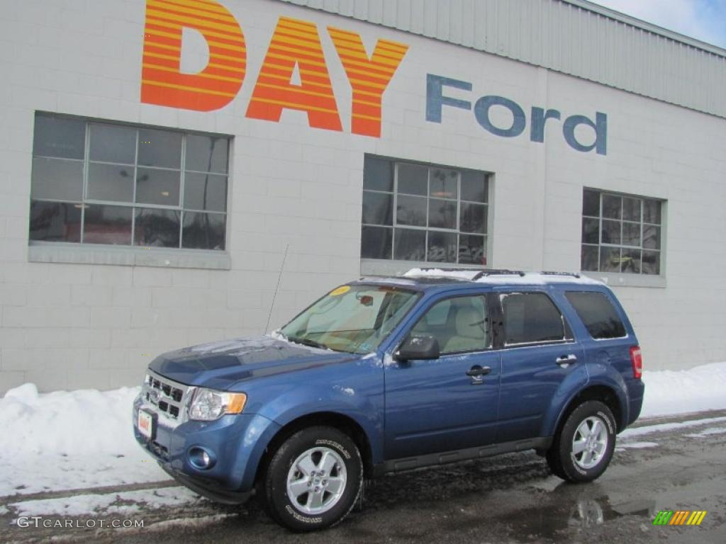 2009 Escape XLT V6 4WD - Sport Blue Metallic / Camel photo #1