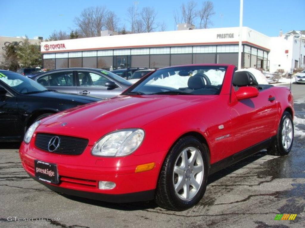 1998 imperial red mercedes benz slk 230 kompressor roadster 25841707 car color. Black Bedroom Furniture Sets. Home Design Ideas
