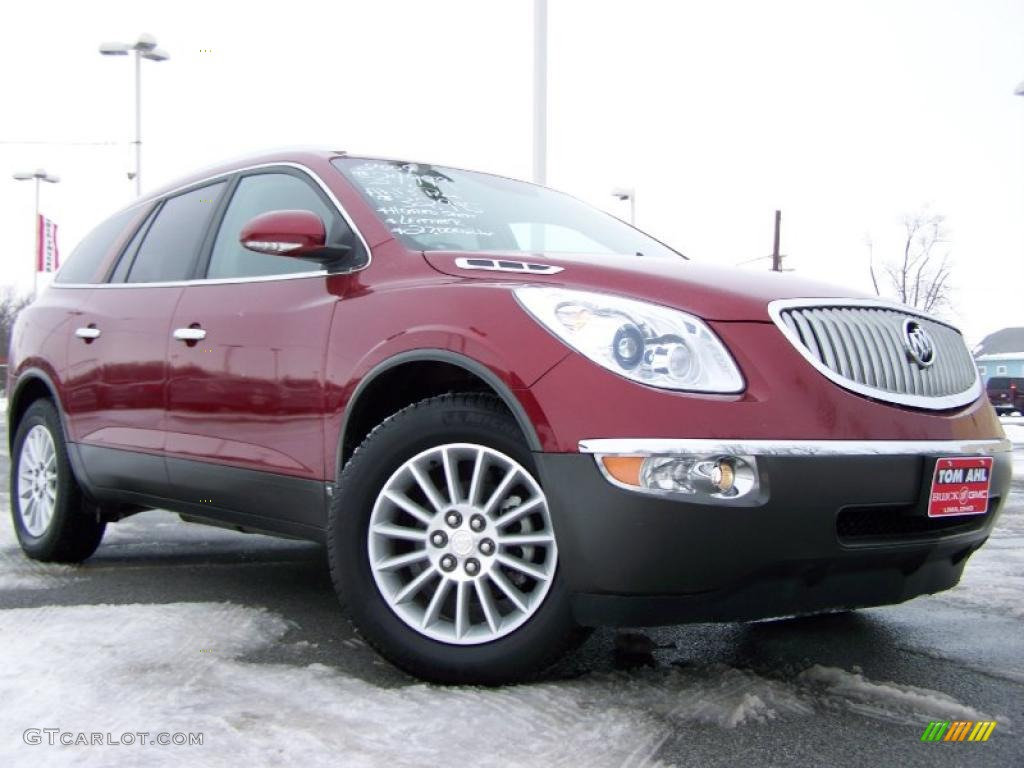 2009 Enclave CXL AWD - Red Jewel Tintcoat / Ebony Black/Ebony photo #1
