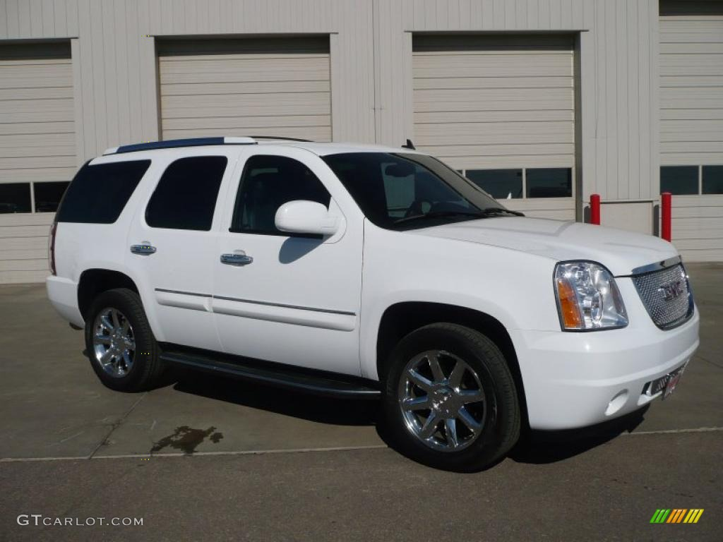 2008 yukon denali awd summit white ebony photo 1