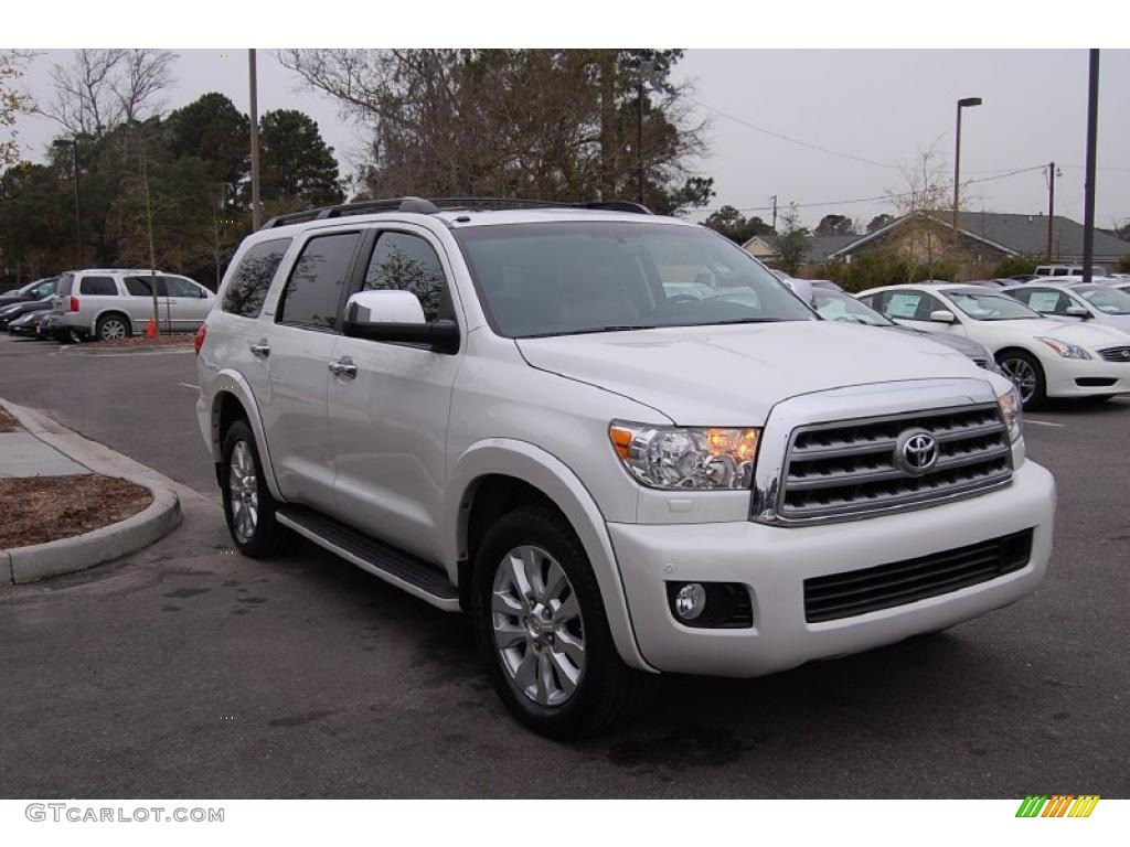2008 arctic frost pearl toyota sequoia platinum 25841773. Black Bedroom Furniture Sets. Home Design Ideas