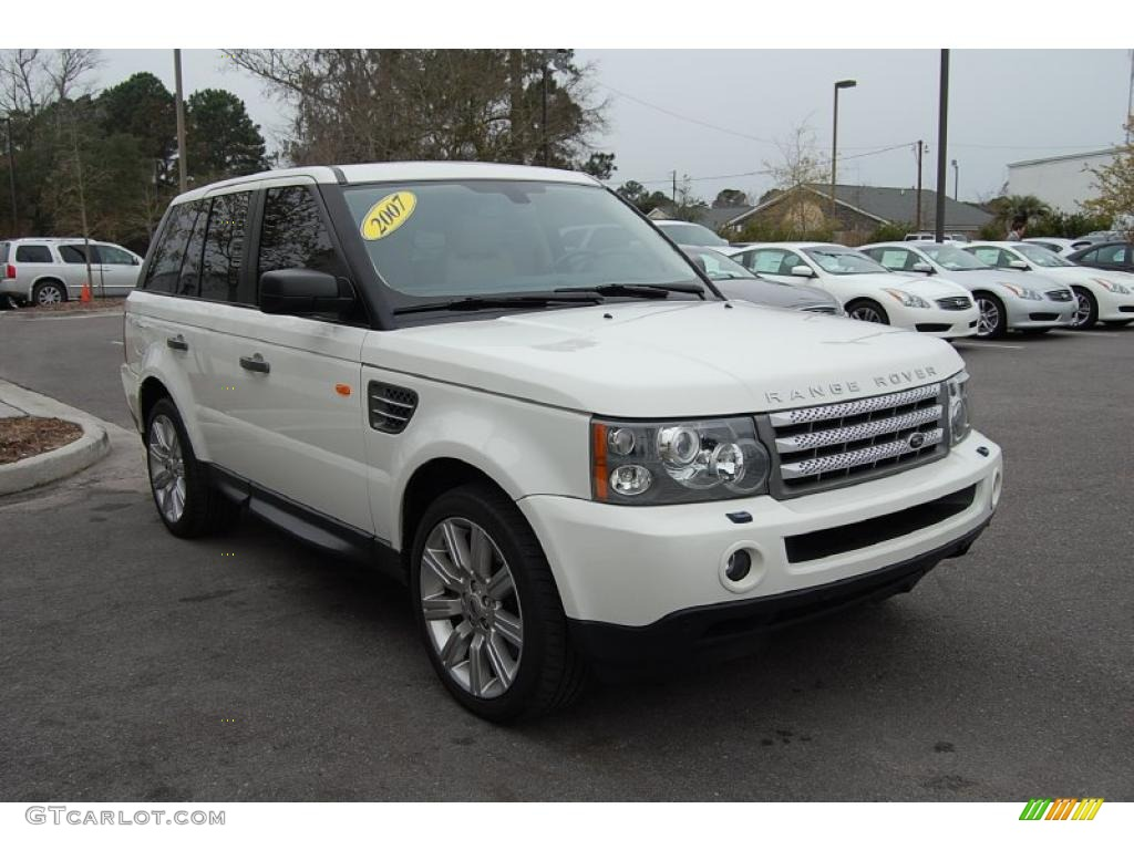 2007 chawton white land rover range rover sport supercharged 25841786 car. Black Bedroom Furniture Sets. Home Design Ideas