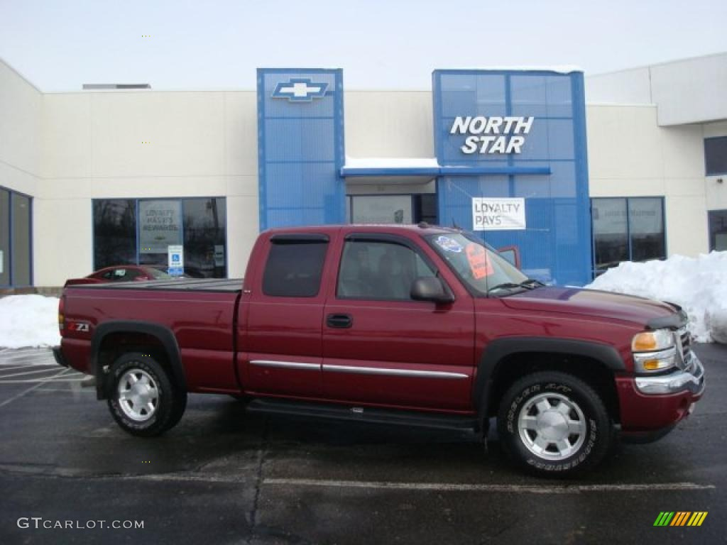 2005 sport red metallic gmc sierra 1500 z71 extended cab 4x4 25841659 car. Black Bedroom Furniture Sets. Home Design Ideas