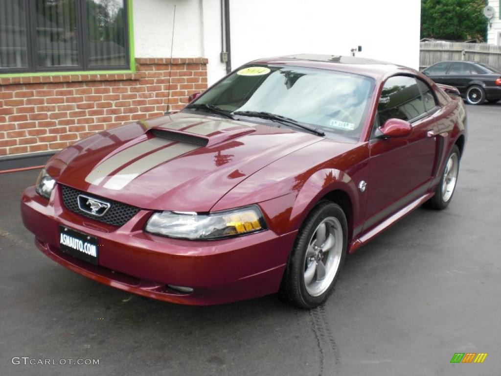 Th anniversary crimson red metallic ford mustang gt coupe