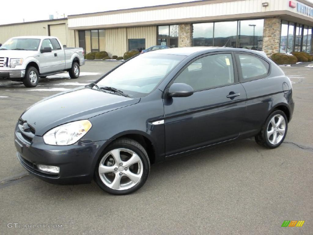 2008 Charcoal Gray Hyundai Accent Se Coupe 25891035 Gtcarlot Com Car Color Galleries