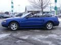 2002 Sonic Blue Metallic Ford Mustang V6 Convertible  photo #3