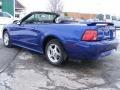 2002 Sonic Blue Metallic Ford Mustang V6 Convertible  photo #4