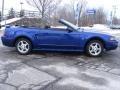 2002 Sonic Blue Metallic Ford Mustang V6 Convertible  photo #7