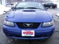 2002 Sonic Blue Metallic Ford Mustang V6 Convertible  photo #9