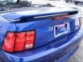 2002 Sonic Blue Metallic Ford Mustang V6 Convertible  photo #26