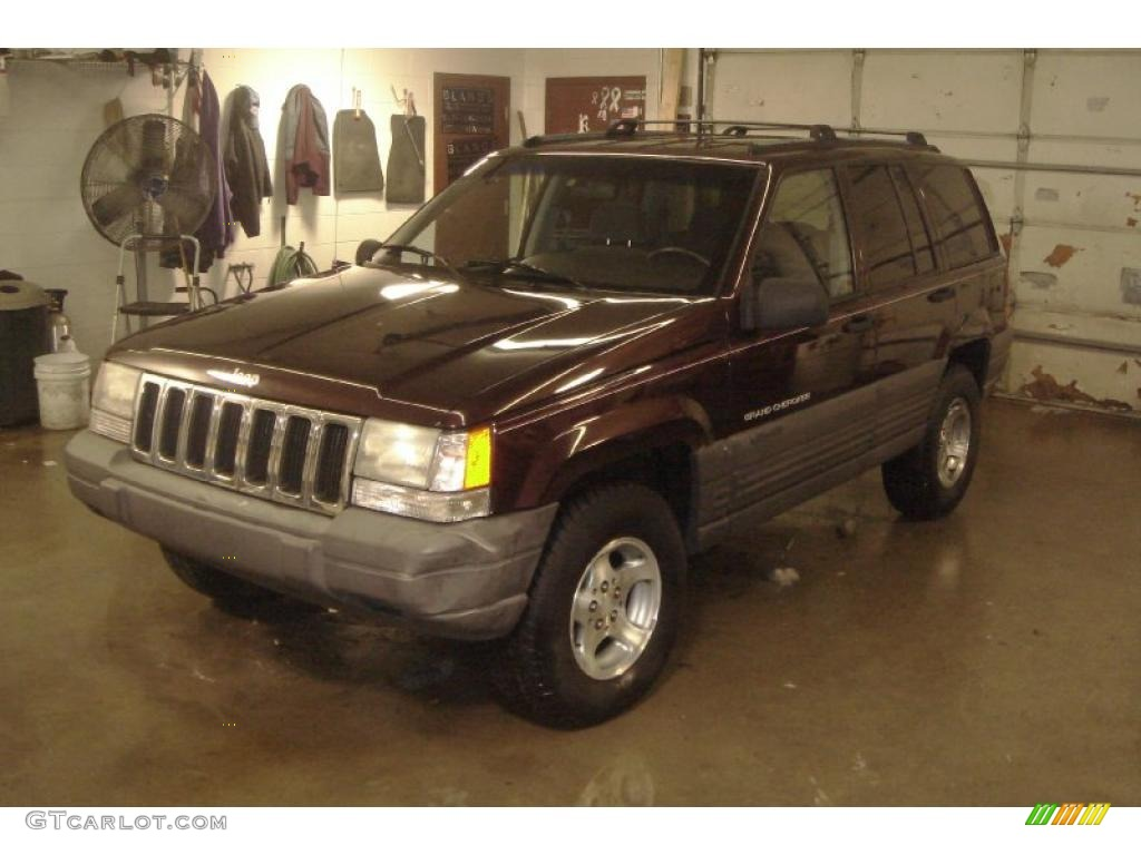 1996 Grand Cherokee Laredo 4x4 - Dark Rosewoood Pearlcoat / Agate photo #6