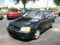 Ebony Black 2000 Hyundai Accent L Coupe