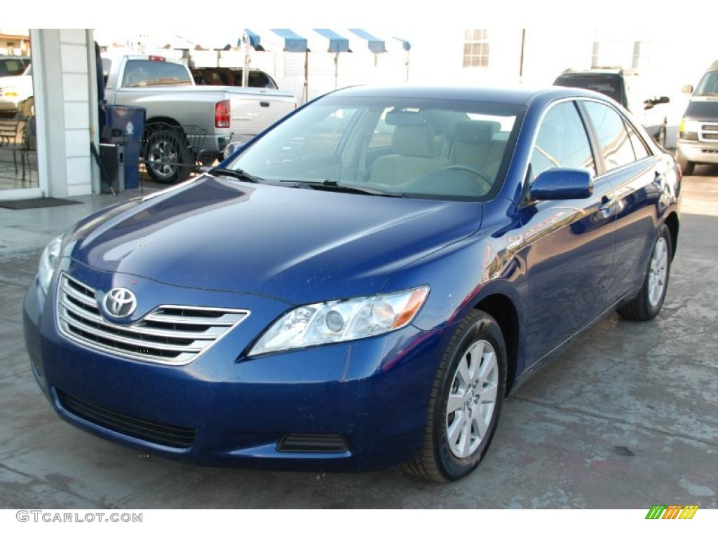 2008 blue ribbon metallic toyota camry hybrid 25920407 photo 11 car color. Black Bedroom Furniture Sets. Home Design Ideas