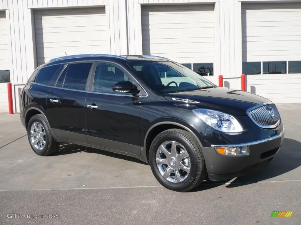 2009 Enclave CXL AWD - Carbon Black Metallic / Ebony Black/Ebony photo #1