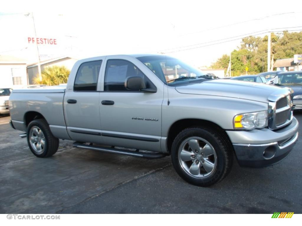 2002 Ram 1500 SLT Quad Cab - Bright Silver Metallic / Dark Slate Gray photo #1