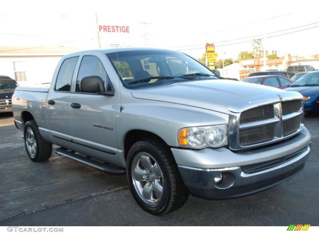 2002 Ram 1500 SLT Quad Cab - Bright Silver Metallic / Dark Slate Gray photo #6