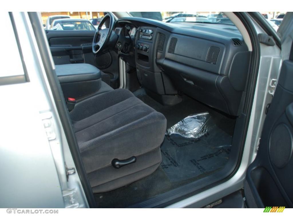 2002 Ram 1500 SLT Quad Cab - Bright Silver Metallic / Dark Slate Gray photo #18