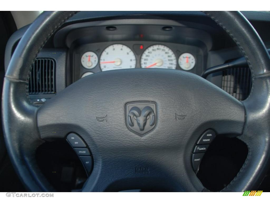 2002 Ram 1500 SLT Quad Cab - Bright Silver Metallic / Dark Slate Gray photo #23