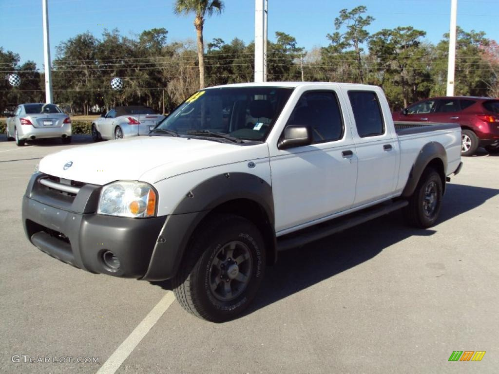 2003 avalanche white nissan frontier xe v6 crew cab. Black Bedroom Furniture Sets. Home Design Ideas