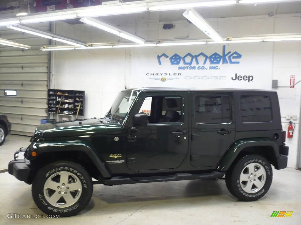 Natural Green Pearl Jeep Wrangler Unlimited