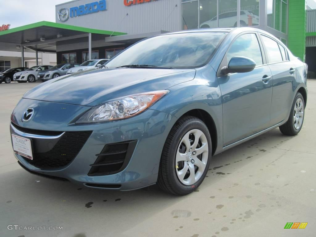 2010 gunmetal blue mica mazda mazda3 i sv 4 door 25999952. Black Bedroom Furniture Sets. Home Design Ideas