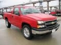 2006 Victory Red Chevrolet Silverado 1500 LS Regular Cab 4x4  photo #2