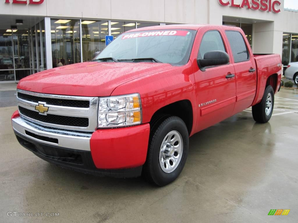 2009 Silverado 1500 LT Crew Cab 4x4 - Victory Red / Light Titanium photo #1