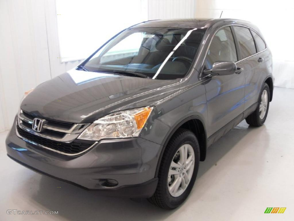 2010 CR-V EX-L - Polished Metal Metallic / Black photo #1