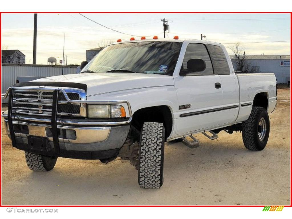 1998 bright white dodge ram 2500 laramie extended cab 4x4 25999802 car color. Black Bedroom Furniture Sets. Home Design Ideas
