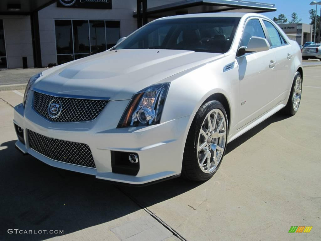 2010 white diamond tricoat cadillac cts v sedan 25999872. Black Bedroom Furniture Sets. Home Design Ideas